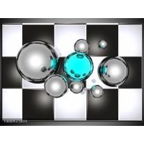 Foto canvas schilderij Macro | Blauw, Grijs, Zwart