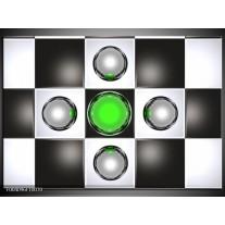 Glas schilderij Macro | Groen, Zwart, Grijs