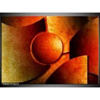 Glas schilderij Abstract | Geel, Rood, Zwart