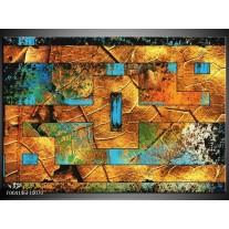 Foto canvas schilderij Abstract | Bruin, Blauw, Geel
