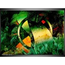 Glas schilderij Abstract | Groen, Geel, Rood