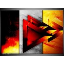 Foto canvas schilderij Abstract   Geel, Oranje, Rood