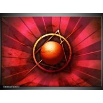 Foto canvas schilderij Abstract | Rood, Geel