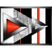 Glas schilderij Abstract | Rood, Grijs, Wit