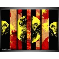 Glas schilderij Abstract | Geel, Zwart, Rood