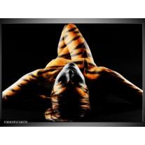 Foto canvas schilderij Abstract | Oranje, Zwart, Geel