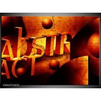 Glas schilderij Abstract | Oranje, Geel