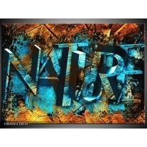 Glas schilderij Natuur | Blauw, Bruin, Geel