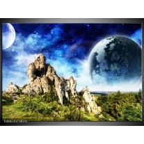 Foto canvas schilderij Natuur | Blauw, Groen,