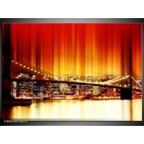 Foto canvas schilderij Brug | Rood, Geel, Zwart