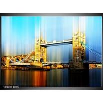 Foto canvas schilderij London | Geel, Blauw, Grijs