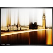 Glas schilderij Londen | Bruin, Wit