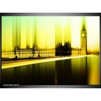 Foto canvas schilderij Londen   Geel, Groen, Zwart