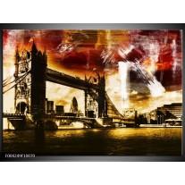 Foto canvas schilderij Londen | Geel, Bruin, Zwart