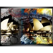 Glas schilderij Sydney | Wit, Grijs