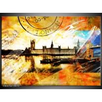 Glas schilderij Engeland | Geel, Wit, Bruin