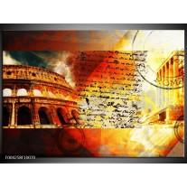 Foto canvas schilderij Rome | Rood, Geel, Oranje