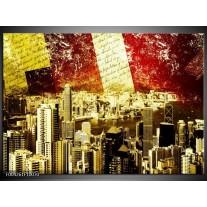 Glas schilderij Modern | Rood, Geel, Bruin