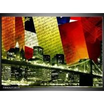 Glas schilderij Modern | Rood, Groen, Wit