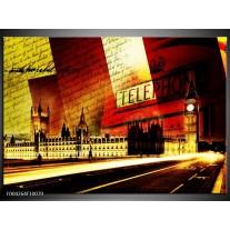 Glas schilderij Modern | Rood, Geel, Zwart