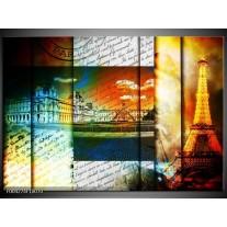 Glas schilderij Modern | Geel, Blauw, Wit