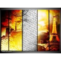 Glas schilderij Modern | Geel, Grijs, Rood