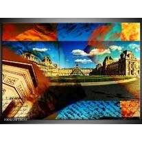 Glas schilderij Modern | Blauw, Geel, Bruin