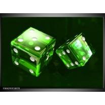 Foto canvas schilderij Spel | Groen, Wit, Zwart