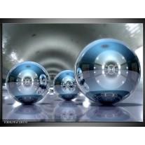 Glas schilderij Modern | Blauw, Grijs
