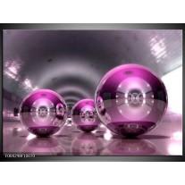 Glas schilderij Modern | Paars, Grijs, Wit