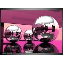 Glas schilderij Modern | Paars, Wit, Zwart