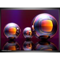 Foto canvas schilderij Modern | Paars, Oranje, Blauw