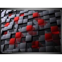 Foto canvas schilderij Modern   Grijs, Rood, Zwart