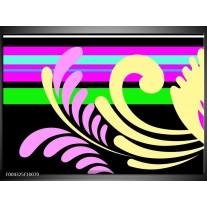 Foto canvas schilderij Abstract | Paars, Geel, Groen