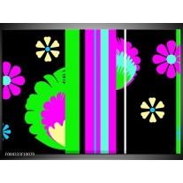 Glas schilderij Abstract | Groen, Zwart, Grijs