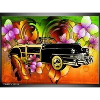 Foto canvas schilderij Oldtimer | Paars, Geel, Rood