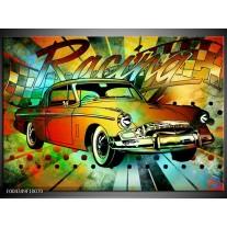 Foto canvas schilderij Oldtimer | Groen, Geel, Rood