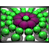 Glas schilderij Modern | Groen, Paars, Zwart