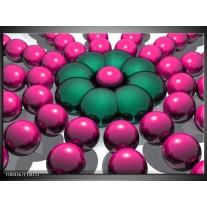 Glas schilderij Modern | Roze, Groen, Zwart
