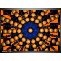 Foto canvas schilderij Modern | Goud, Blauw, Oranje
