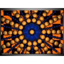 Glas schilderij Modern | Goud, Blauw, Oranje
