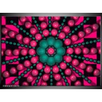 Foto canvas schilderij Modern   Roze, Groen, Zwart