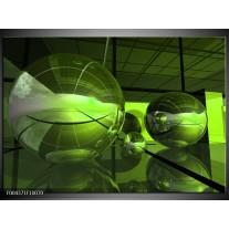 Glas schilderij Modern | Groen, Zwart