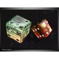 Glas schilderij Modern | Groen, Rood, Zwart