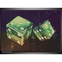 Foto canvas schilderij Modern | Groen, Geel, Zwart