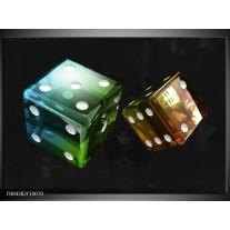 Glas schilderij Modern | Groen, Blauw, Zwart