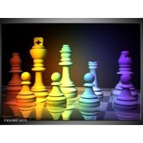 Glas schilderij Spel | Geel, Blauw, Paars