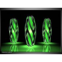 Glas schilderij Design | Groen, Zwart