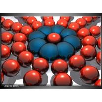 Glas schilderij Design | Rood, Blauw, Grijs