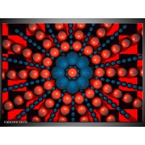 Foto canvas schilderij Design | Blauw, Rood